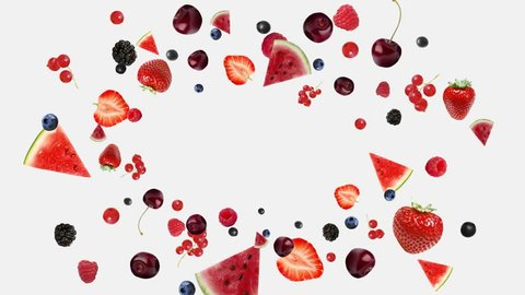 berry blast, explode berries, many berries, berries on a white background , a lot of berries , fruit fly