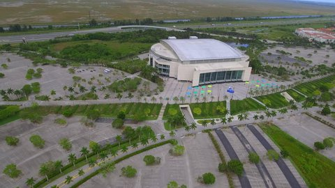 SUNRISE - JULY 21  Aerial video of the BB T Center home to the Florida  Panthers 6f07b9212