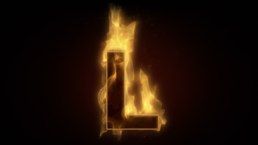Fiery Letter L Burning In Stock Footage Video 100 Royalty Free