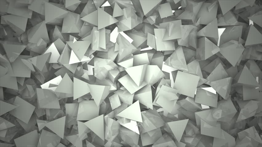 Three Dimensional Triangular Reflective Block Shapes Toned In A Subtle Gray Hue Good For