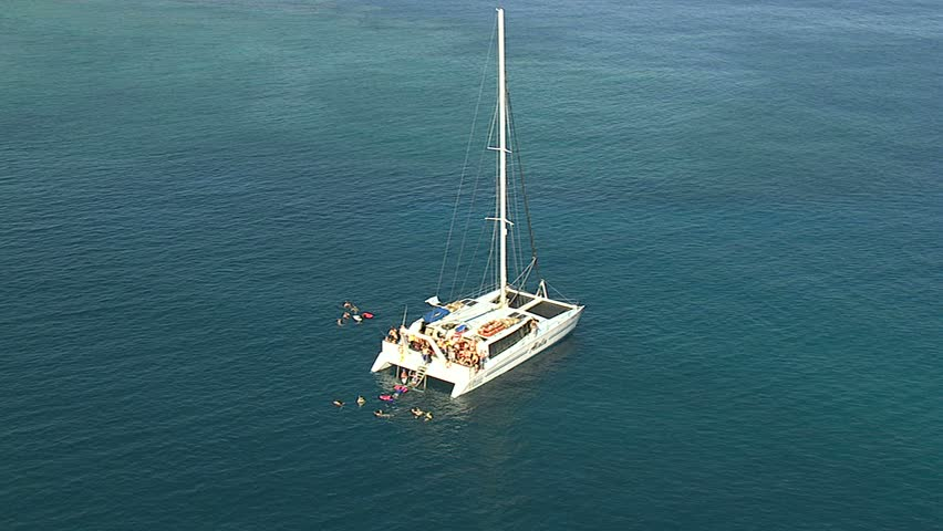 Sailboat with snorkelers