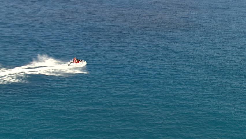 Jet skiing off the Big Island, Hawaii