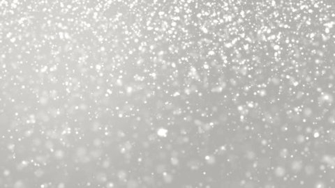 Elegant silver abstract with snowflakes.Christmas animated grey background. Background white glitter - winter theme. Seamless loop.