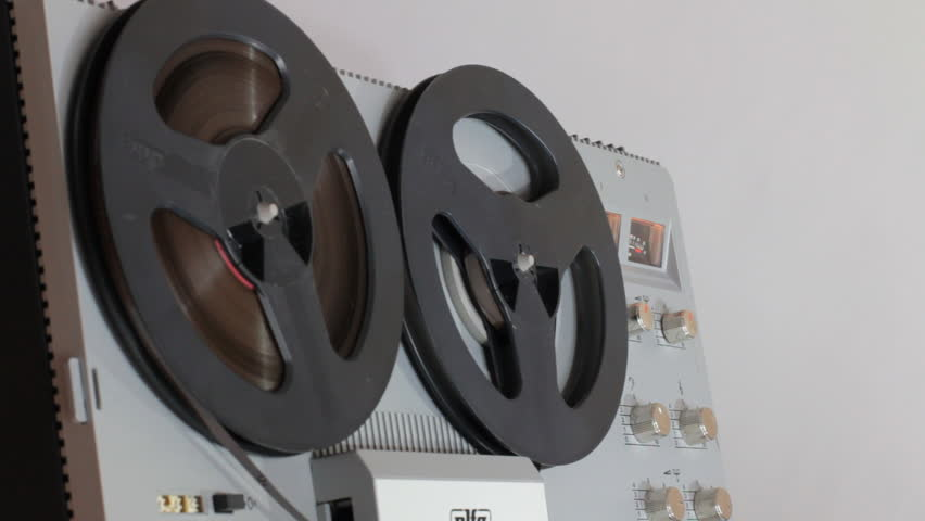 Rewind And Play The Tape On A Reel-To-Reel Tape Recorder   | Shutterstock HD Video #18307057