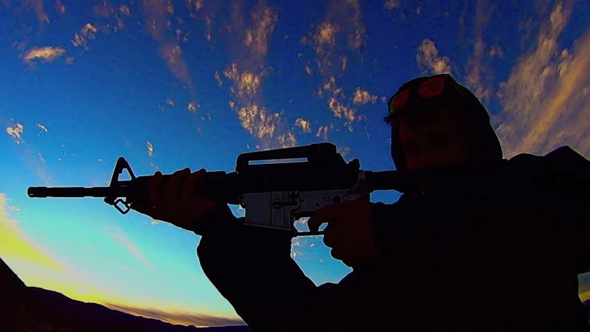 Nz Shooting Hd: Solitary Shootout. Glock-like .45 Acp Firing Repeatedly At