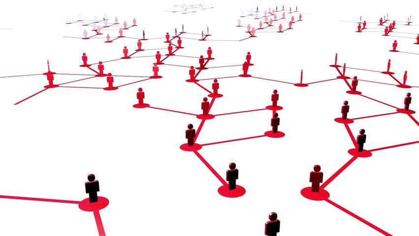 Network growing, creating red connections. / Red creciendo, creando conexiones rojas, | Shutterstock HD Video #18410248