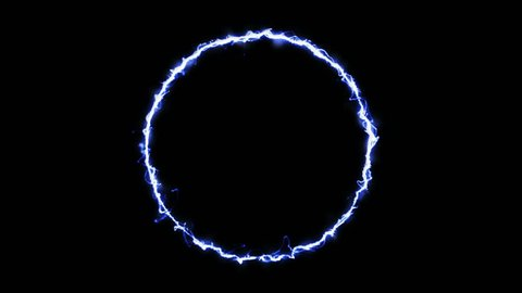 Digital Animation of lightning ring
