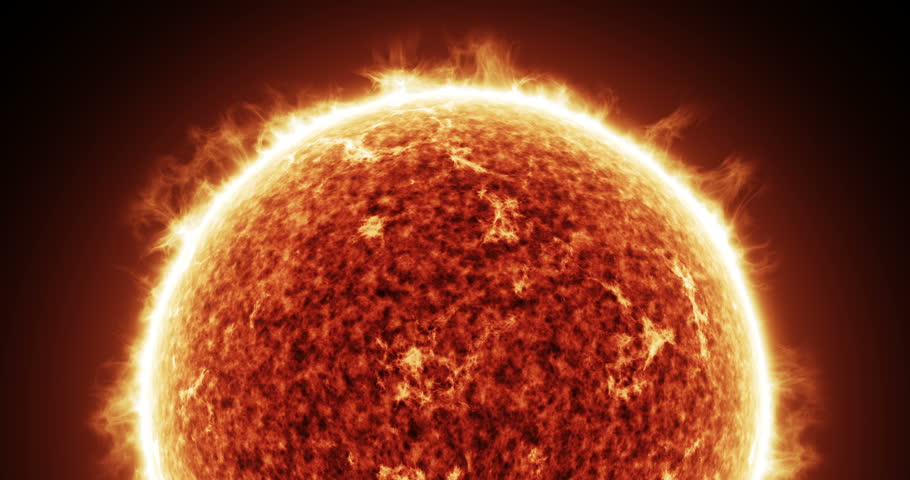 Zoom in on the Sun Star. Highly Realistic Animation in Stunning Detail - Ultra HD (4K)  #18419869