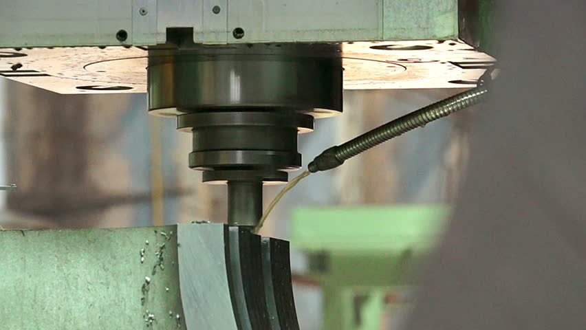 Close up cool drilling