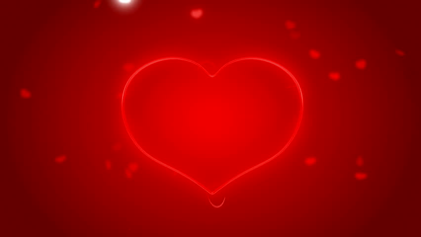 Bokeh Heart Shape Of Light Background Stock Footage Video: Bokeh Background With Falling Red Hearts Stock Footage