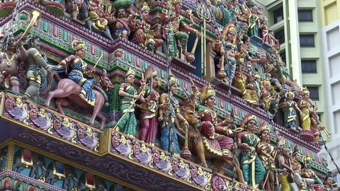 4k of The Sri Veeramakaliamman Temple, dedicated to the Hindu goddess Kali, Little India in the southern part of Singapore-Dan