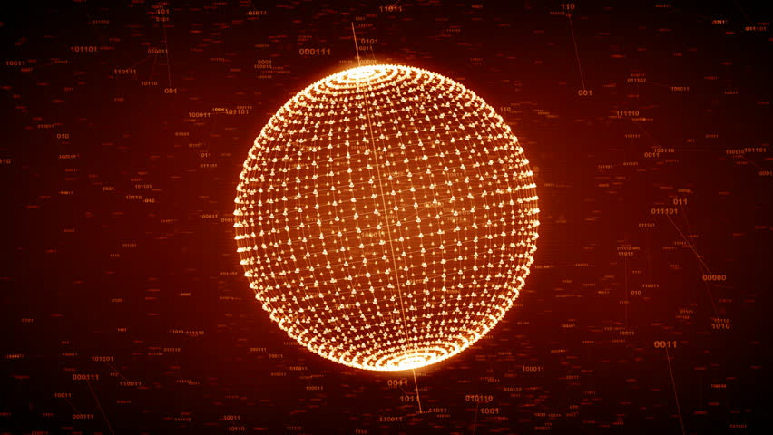 Social network connection. Connecting people in the virtual world, nodes transforming into the shape of a globe. Orange version. Also available in green. 4K | Shutterstock HD Video #18504959