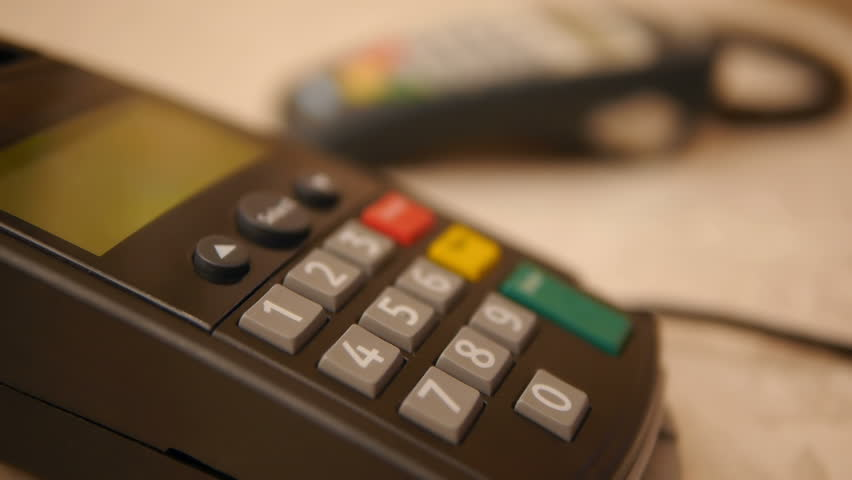 HD - Buyer makes the payment by credit card | Shutterstock HD Video #1854409