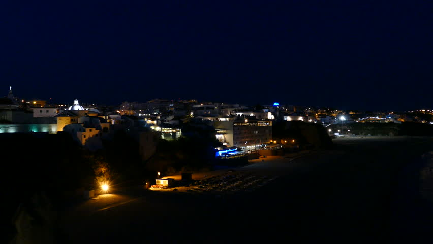 View over Albufeira City at night | Shutterstock HD Video #18546779