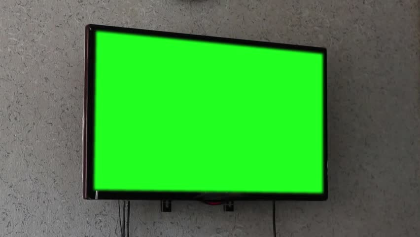 Flat screen TV with green screen composited. | Shutterstock HD Video #18547418