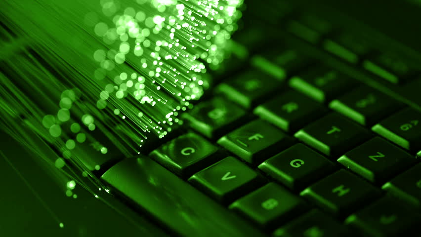 Typing on keyboard with Fiber optics background, shot in HD | Shutterstock HD Video #18622799