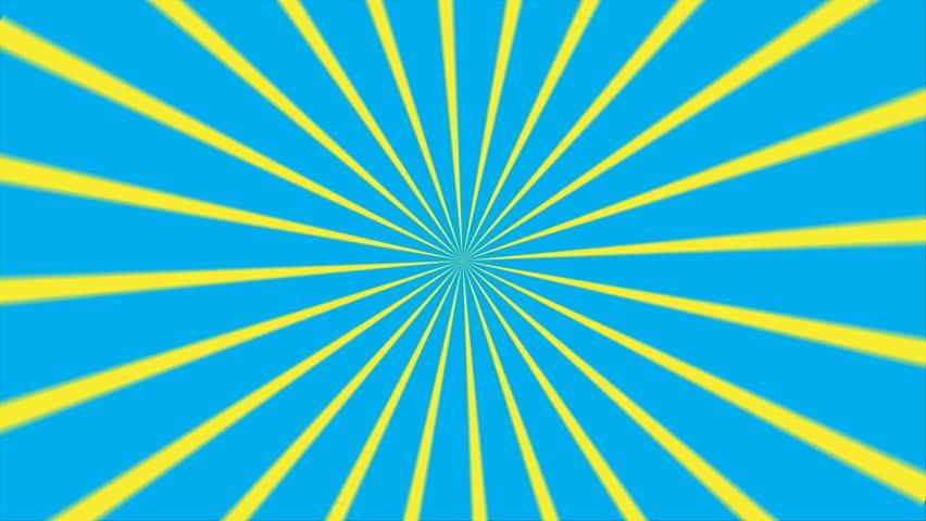 Pop Art Background Animation Design. Comic Style Blue