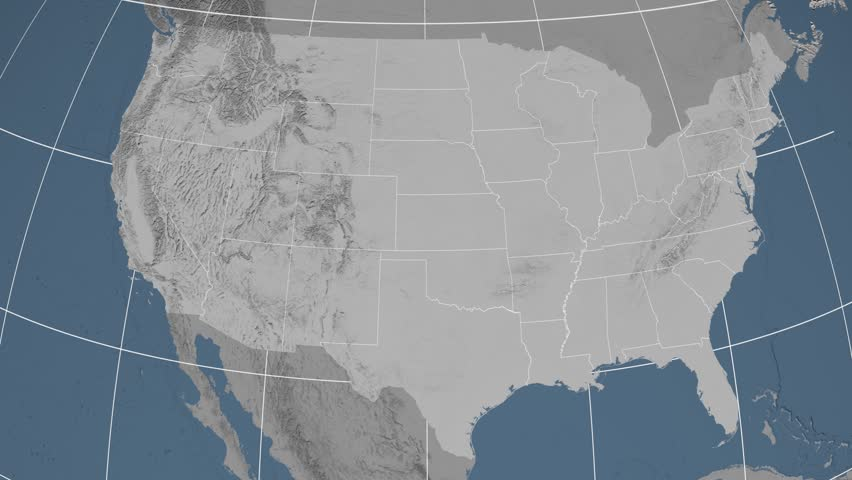World Map With US Airports Roads And Railroads Gray Highly - 4k image of us map