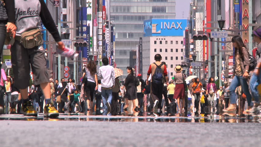 Crowd Asakusa Tokyo Native SlowMotion  Shot at 60fps conformed to 25fps