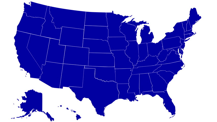 State Of Alabama Map Reveals From The Usa Map Silhouette Animation Hd Stock Video Clip