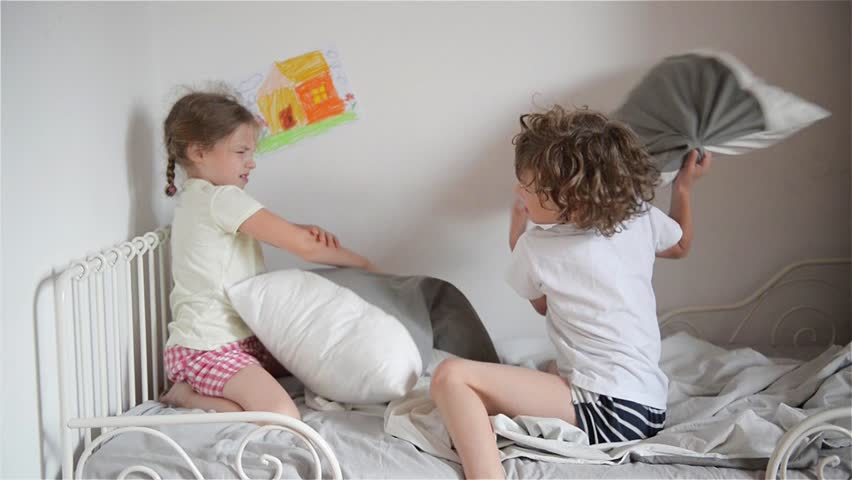 Pillow Fight Footage Page 2 Stock Clips