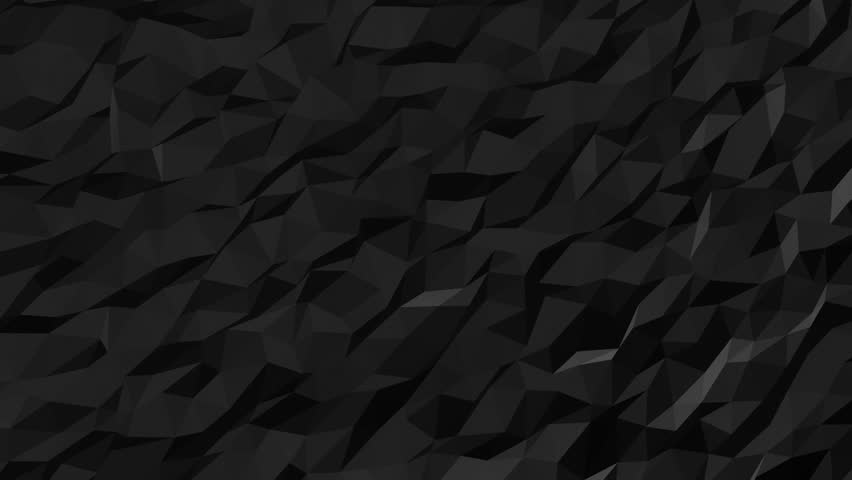 Black Low Poly Abstract Background Seamlessly Loopable