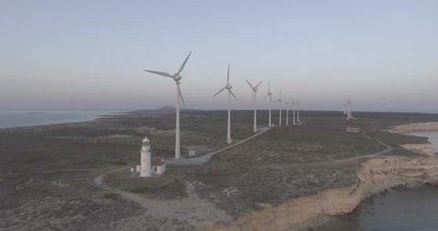 wind turbines, island, turkey, lighthouse From Bozcaada Turkey