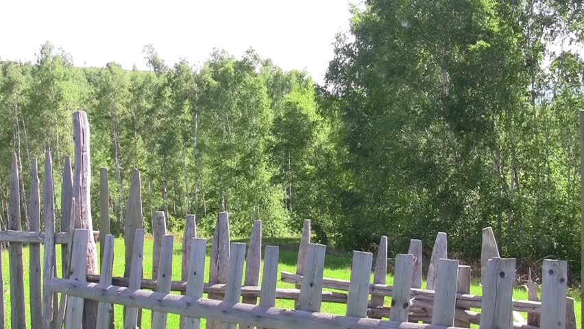 Wooden Fence And Fence Wire Mesh That Surrounds A Property 73 ...