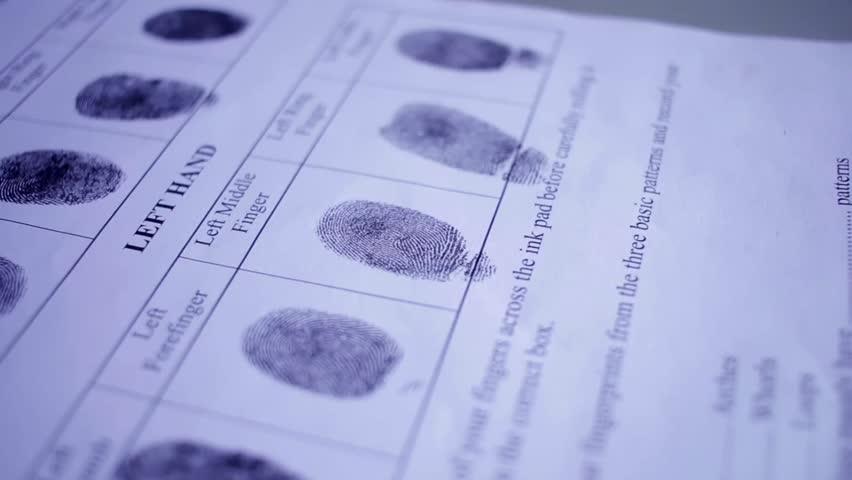 Fingerprint on police fingerprint card   Shutterstock HD Video #18737498