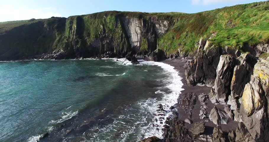 Sandscove beach near Clonakilty, Co Cork, Ireland, Lovely little spot in the late afternoon. | Shutterstock HD Video #18807719