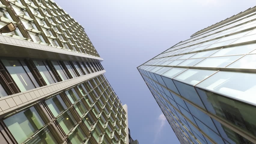 Day Up Angle Large Modern High Rise Office Building Architectural - Building architectural windows