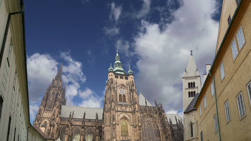 St. Vitus Cathedral (Roman Catholic cathedral ) in Prague Castle, Czech Republic    | Shutterstock HD Video #18961079