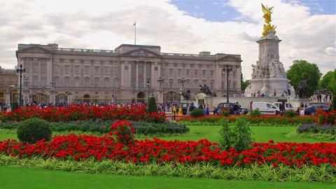 UNITED KINGDOM, LONDON - JULY 2015: Buckingham Palace & Victoria Memorial; Spur Road London England