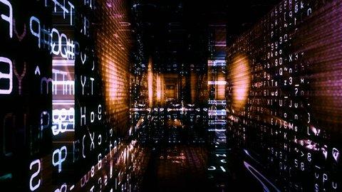 Digital Graffiti 036: Traveling through a maze of streaming data (Loop).