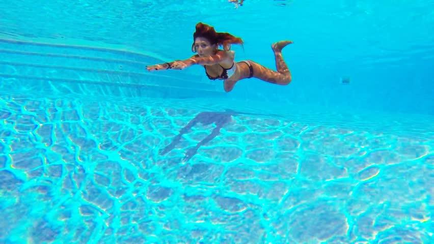 Stock Video Of Slow Motion Underwater Tattooed Woman Portrait 19117669 Shutterstock