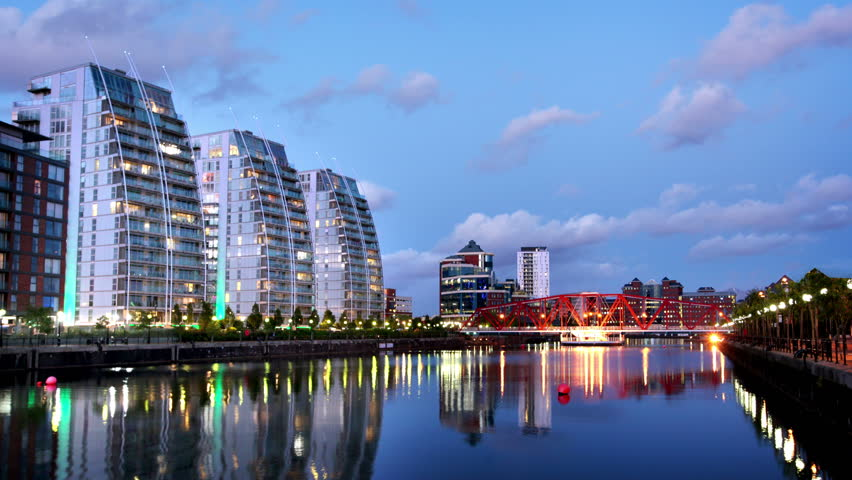 Timelapse of Salford Quays, Manchester, UK