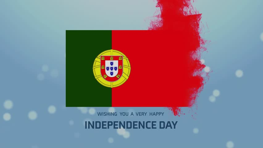 The Hd Portugal Independence Day Animated Flag Royalty Free Video