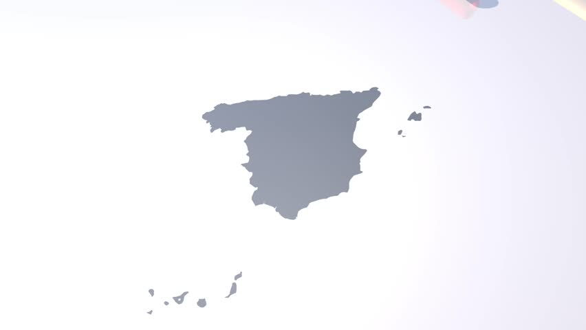3d Map Of Spain.Unrolling Flag Over Spain Map Stock Footage Video 100 Royalty Free 19128079 Shutterstock