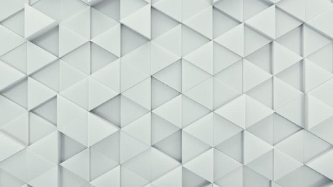 Abstract Triangles Background Random Motion, 3d Loopable Animation 4k