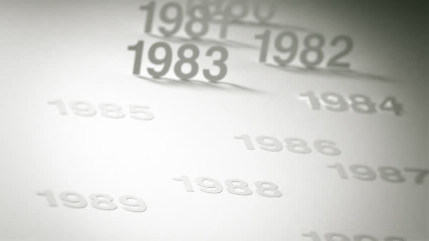 Simple Timeline Concept Animation: 1970s, 1980s and 1990s | Shutterstock HD Video #1919989