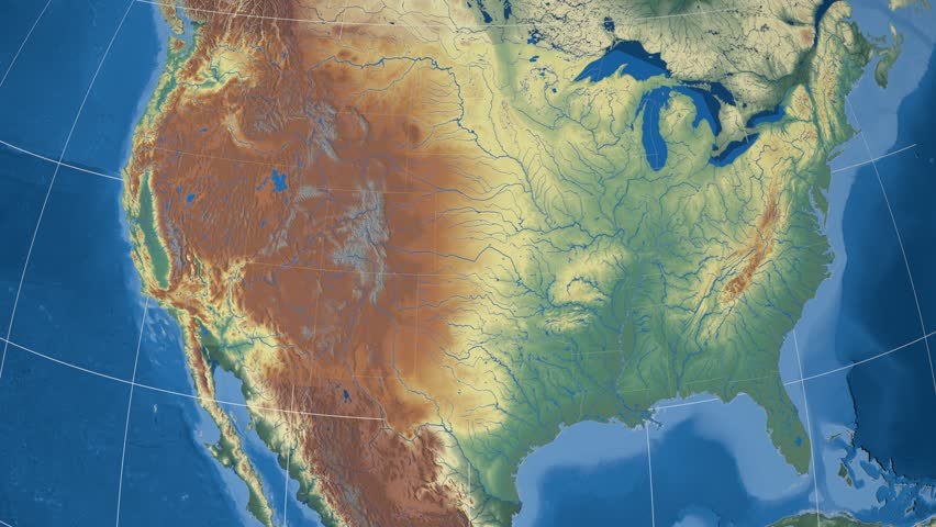 Arkansas Region Extruded On The Relief Map Of United States - Arkansas relief map