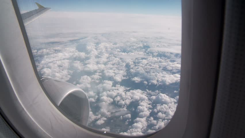 View From Airplane Window Stock Footage Video 100 Royalty Free