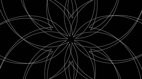 Abstract Radiating Spirograph Pattern Background Loop