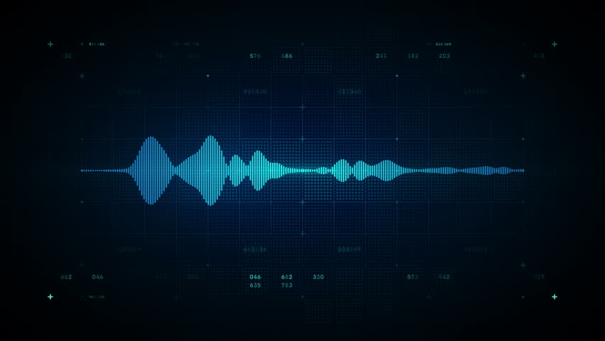 4K Audio Waveform Mono Blue - A visualization of audio waveforms. This clip is available in multiple color options and loops seamlessly.