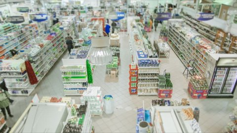 Store. Grocery Shopping, TimeLapse