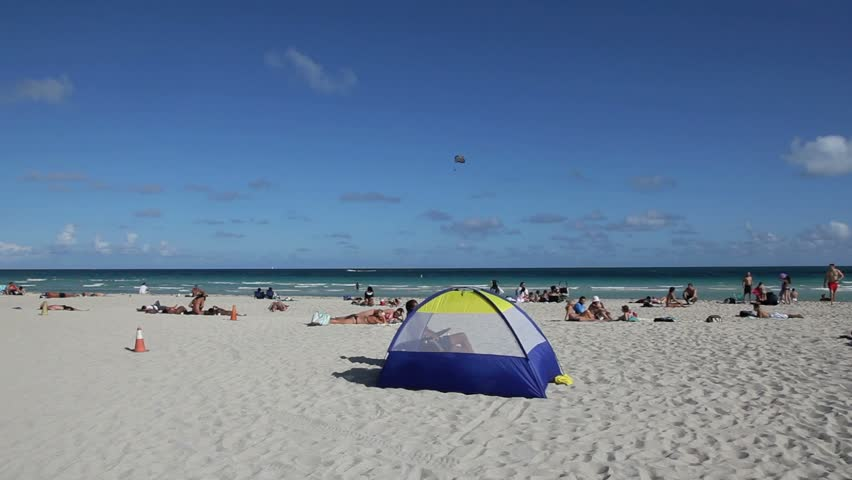 Lifeguard Hut in South Beach- Miami - January 2012
