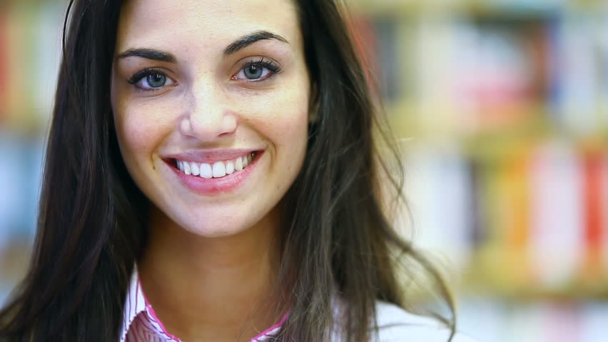 portrait of beautiful young woman  with attractive smile