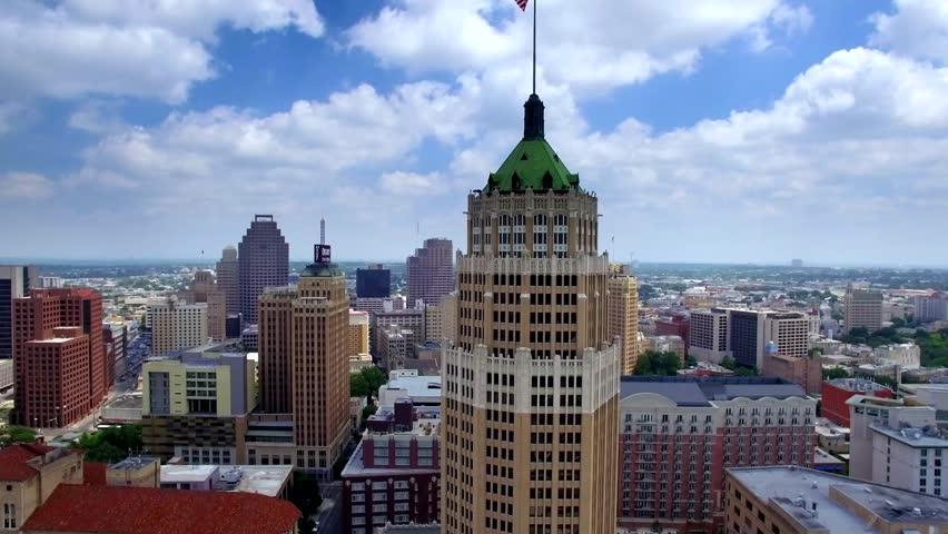 Aerial view of San Antonio skyline 4