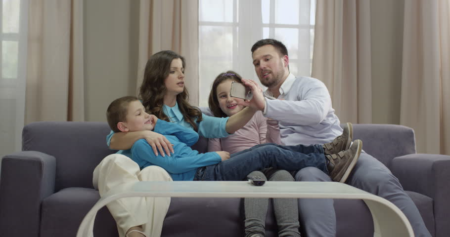 Family Portrait On the Couch Stock Footage Video (100% Royalty-free)  19518739 | Shutterstock