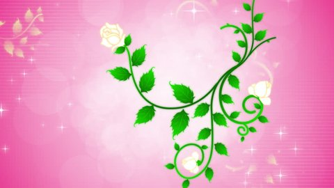 Growing roses on vine